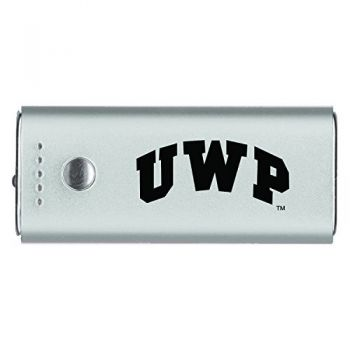University of Wisconsin-Platteville-Portable Cell Phone 5200 mAh Power Bank Charger -Silver
