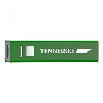 Tennessee-State Outline-Portable 2600 mAh Cell Phone Charger-