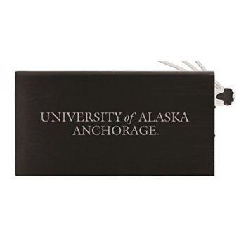 8000 mAh Portable Cell Phone Charger-University of Alaska Anchorage -Black