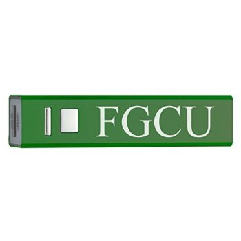 Florida Gulf Coast University - Portable Cell Phone 2600 mAh Power Bank Charger - Green