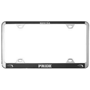 Hofstra University -Metal License Plate Frame-Black