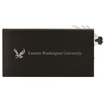 8000 mAh Portable Cell Phone Charger-Eastern Washington University -Black