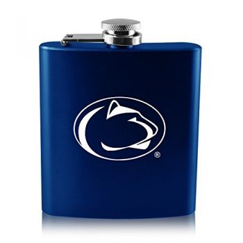 The Pennsylvania State University -6 oz. Color Stainless Steel Flask-Blue