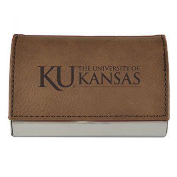 Velour Business Cardholder-The University of Kansas-Brown