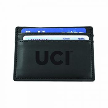 University of California, Irvine-European Money Clip Wallet-Black