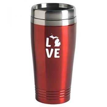 16 oz Stainless Steel Insulated Tumbler - Michigan Love - Michigan Love