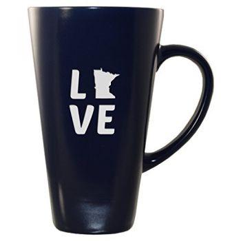 16 oz Square Ceramic Coffee Mug - Minnesota Love - Minnesota Love