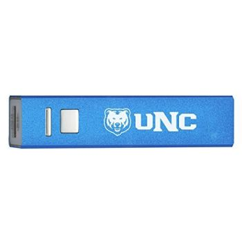 University of Northern Colorado - Portable Cell Phone 2600 mAh Power Bank Charger - Blue