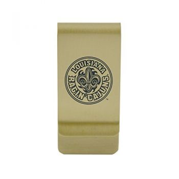 Kent State University|Money Clip with Contemporary Metals Finish|Solid Brass|High Tension Clip to Securely Hold Cash, Cards and ID's|Silver