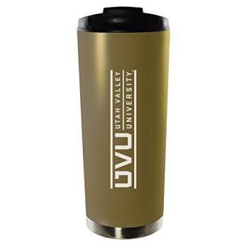 Utah Valley University-16oz. Stainless Steel Vacuum Insulated Travel Mug Tumbler-Gold