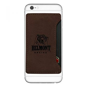 Belmont University-Cell Phone Card Holder-Brown