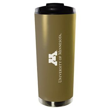 University of Minnesota-16oz. Stainless Steel Vacuum Insulated Travel Mug Tumbler-Gold