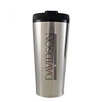 Davidson College-16 oz. Travel Mug Tumbler-Silver