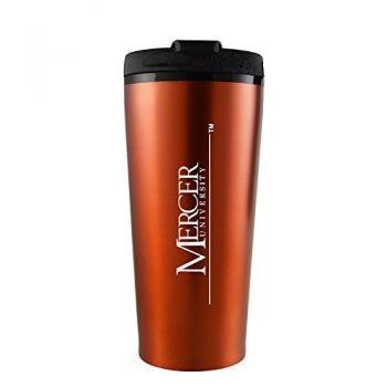 Mercer University -16 oz. Travel Mug Tumbler-Orange