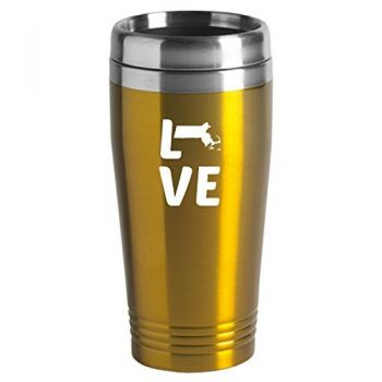 16 oz Stainless Steel Insulated Tumbler - Massachusetts Love - Massachusetts Love
