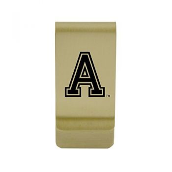 Arkansas State University|Money Clip with Contemporary Metals Finish|Solid Brass|High Tension Clip to Securely Hold Cash, Cards and ID's|Silver