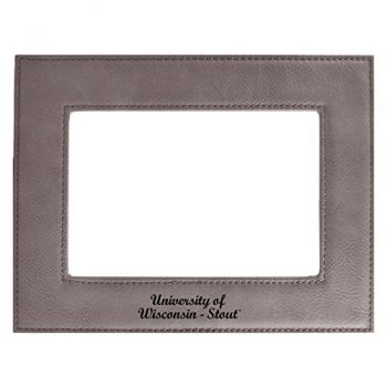 University of Wisconsin-Stout-Velour Picture Frame 4x6-Grey