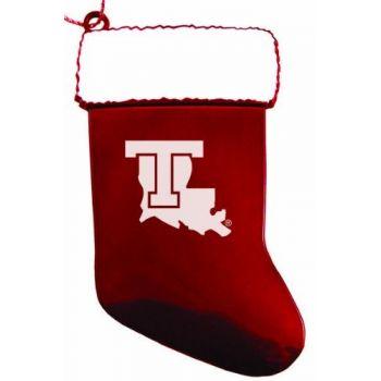 Louisiana Tech University - Christmas Holiday Stocking Ornament - Red