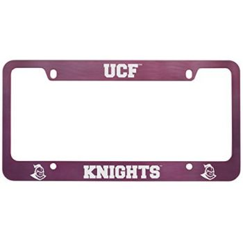 University of Central Florida -Metal License Plate Frame-Pink