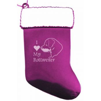 Pewter Stocking Christmas Ornament  - I Love My Rottweiler