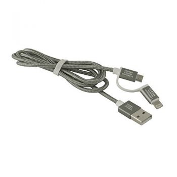 Eastern Illinois University -MFI Approved 2 in 1 Charging Cable