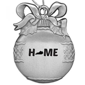 Kentucky-State Outline-Home-Christmas Tree Ornament-Silver