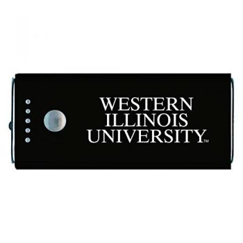 Western Illinois University -Portable Cell Phone 5200 mAh Power Bank Charger -Black