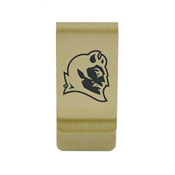 University of Central Arkansas|Money Clip with Contemporary Metals Finish|Solid Brass|High Tension Clip to Securely Hold Cash, Cards and ID's|Silver
