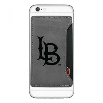 Long Beach State University -Cell Phone Card Holder-Grey