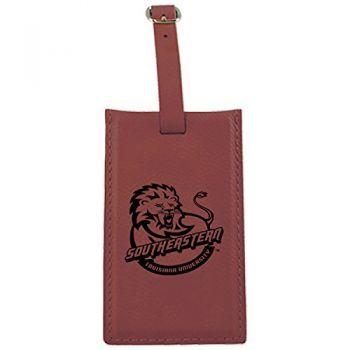 Southeastern Louisiana University -Leatherette Luggage Tag-Burgundy