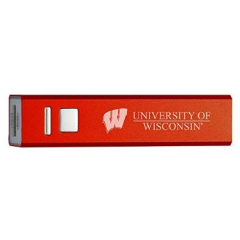 University of Wisconsin - Portable Cell Phone 2600 mAh Power Bank Charger - Red