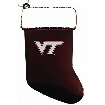 Virginia Tech - Chirstmas Holiday Stocking Ornament - Burgundy