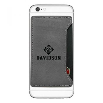 Davidson College-Cell Phone Card Holder-Grey