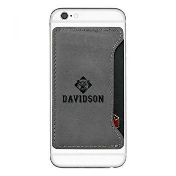 Davidson College-Cell Phone Card Holder-Grey