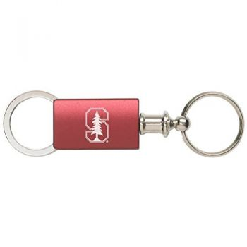 Stanford University - Anodized Aluminum Valet Key Tag - Burgundy