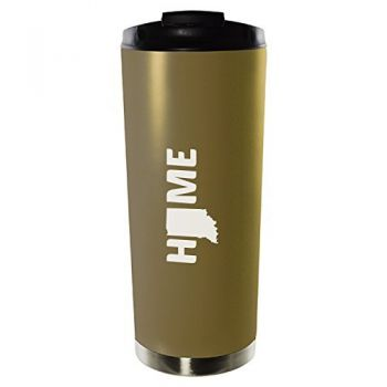 16 oz Vacuum Insulated Tumbler with Lid - Indiana Home Themed - Indiana Home Themed