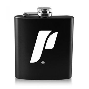 The University of Portland-6 oz. Color Stainless Steel Flask-Black
