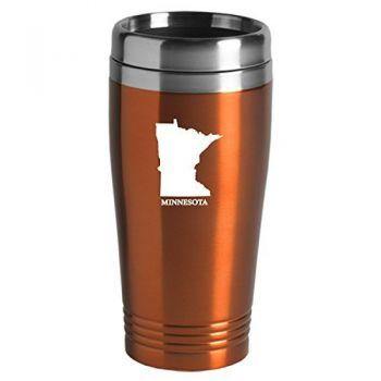 16 oz Stainless Steel Insulated Tumbler - Minnesota State Outline - Minnesota State Outline