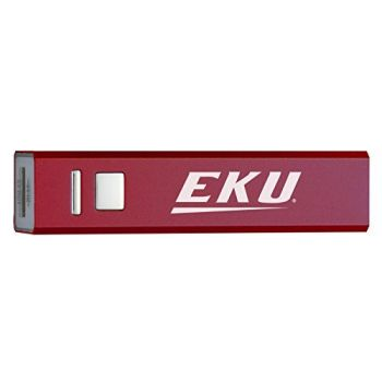 Eastern Kentucky University - Portable Cell Phone 2600 mAh Power Bank Charger - Burgundy