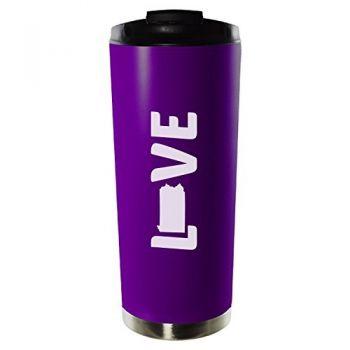 16 oz Vacuum Insulated Tumbler with Lid - Pennsylvania Love - Pennsylvania Love