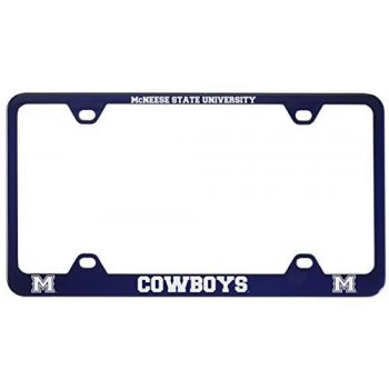 McNeese State University-Metal License Plate Frame-Blue