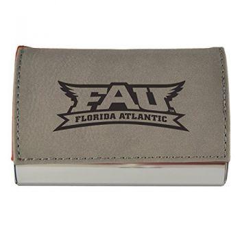 Velour Business Cardholder-Florida Atlantic University-Grey
