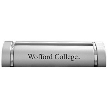 Wofford College-Desk Business Card Holder -Silver