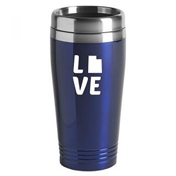 16 oz Stainless Steel Insulated Tumbler - Utah Love - Utah Love