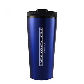 George Washington University -16 oz. Travel Mug Tumbler-Blue
