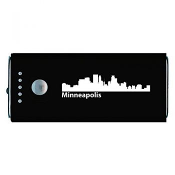Quick Charge Portable Power Bank 5200 mAh - Minneapolis City Skyline