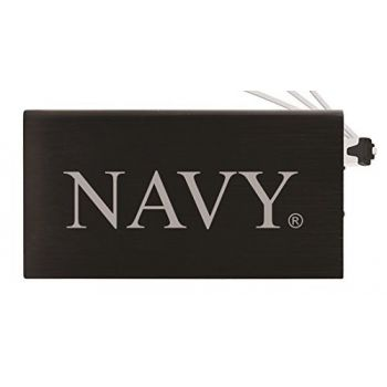 8000 mAh Portable Cell Phone Charger-United States Naval Academy -Black