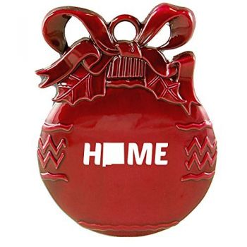 New Mexico-State Outline-Home-Christmas Tree Ornament-Red