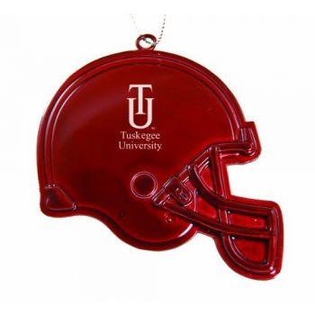 Tuskegee University - Chirstmas Holiday Football Helmet Ornament - Red