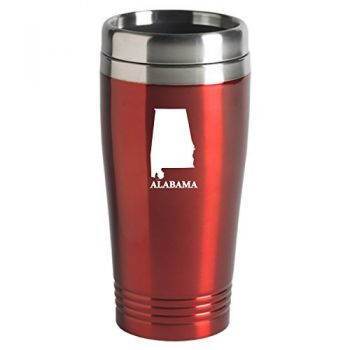 16 oz Stainless Steel Insulated Tumbler - Alabama State Outline - Alabama State Outline